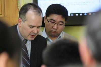 Consulting with O. Amartuvshin, photo by B. Ganchimeg